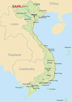 SAPA Map, Sapa Vietnam Map, Sapa Maps, Sapa travel Map, Map Sa Pa